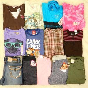 Girls Clothes Lot L 14/16 Top Jeans Pants Hoodies